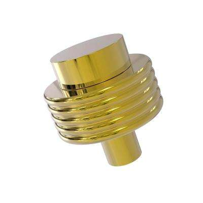 1-1/2 in. Cabinet Knob in Polished Brass
