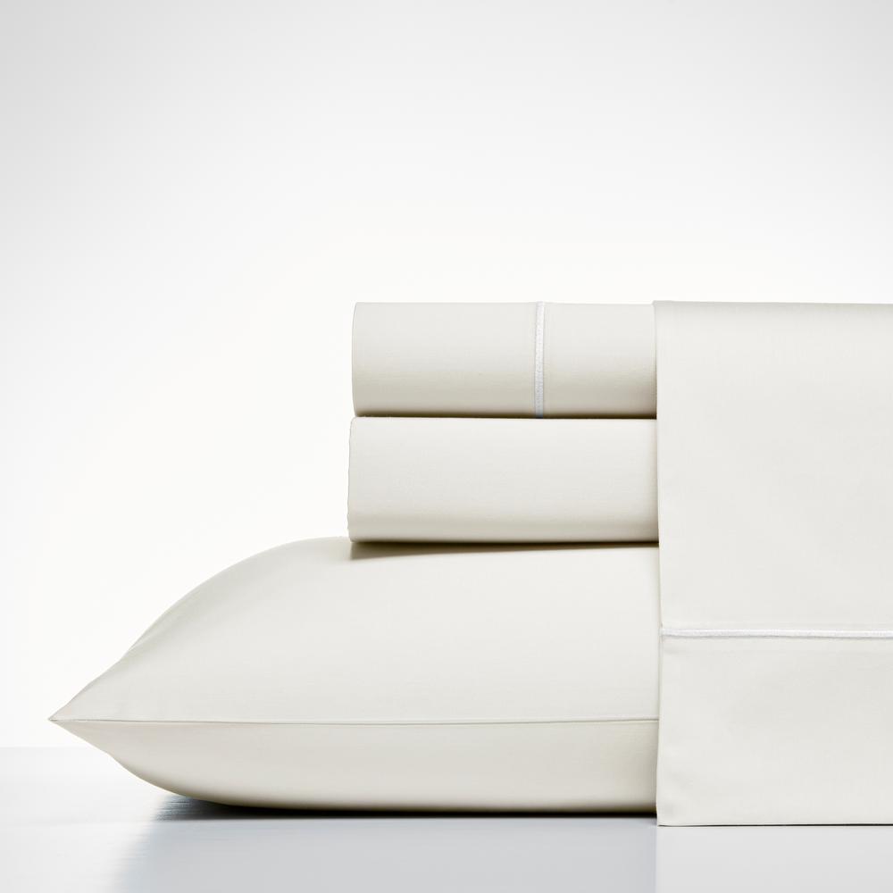 Regatta White 4-Piece Cotton Sheet Set, King