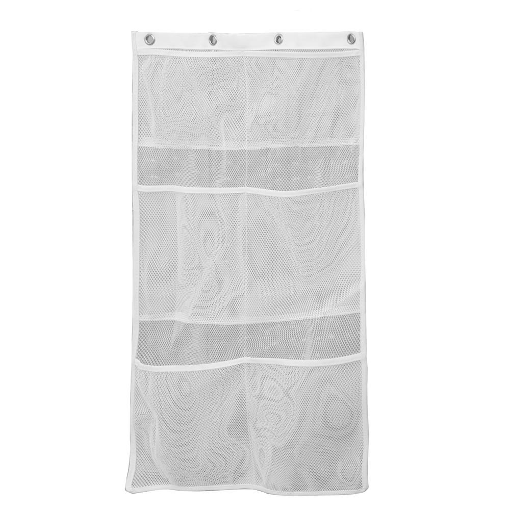 Kenney White 6 Pocket Mesh Bath Organizer
