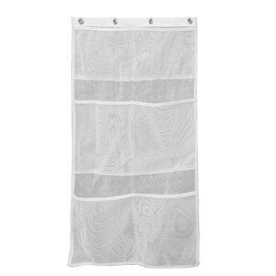 White 6-Pocket Mesh Bath Organizer