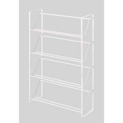 Frame 12-Pair Slim Steel Shoe Rack in White