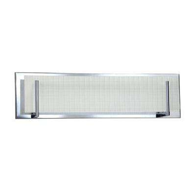 Aurora Series 4-Light Chrome Vanity Light with Linen Glass