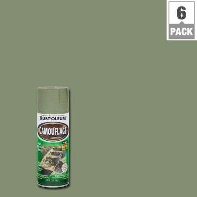 12 oz. Army Green Camouflage Spray Paint (6-Pack)