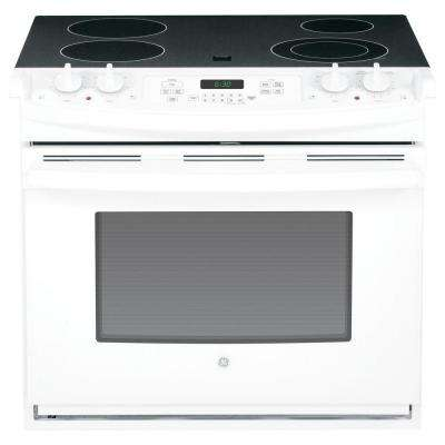 4.4 cu. ft. Drop-In Electric Range with Self-Cleaning Oven in White