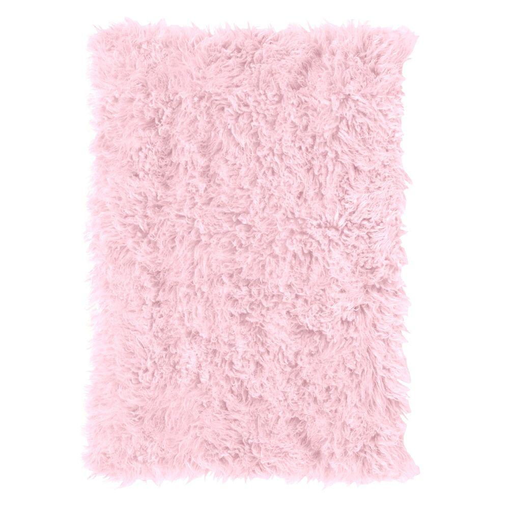 Home Decorators Collection Standard Flokati PInk 3 ft. 6 in. x 5 ft. 6 in. Area Rug