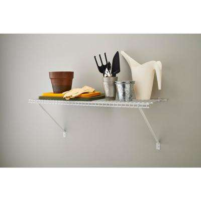 3 ft. x 12 in. Ventilated Wire Shelf Kit