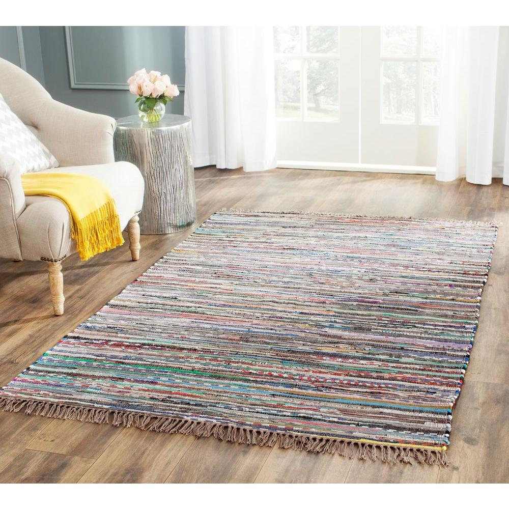 Safavieh Rag Rug Rust/Multi (Red/Multi) 8 ft. x 10 ft. Ar...
