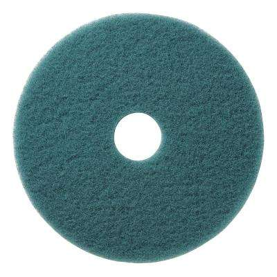 27 in. Floor Burnishing Pad Aqua Soft to Medium Finish UHS Synthetic Fiber (5-Pack)