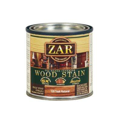120 0.5 pt. Teak Natural Wood Stain (2-Pack)