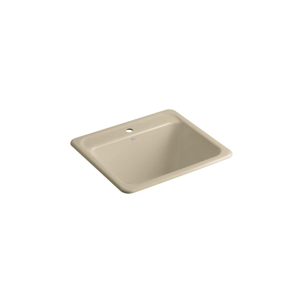 KOHLER Glen Falls 25 in. x 22 in. Cast Iron Self-Rimming Utility Sink
