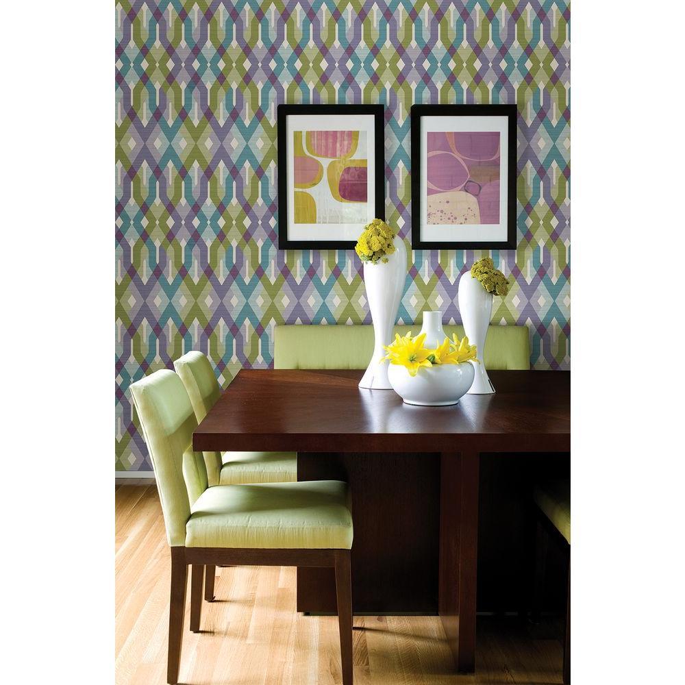 Harbour Lavender Lattice Wallpaper