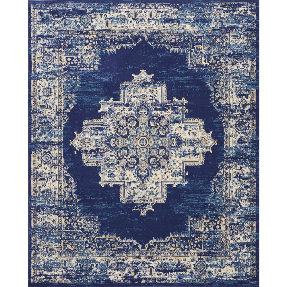 Grafix 8 ft. x 10 ft. Blue Persian Area Rug