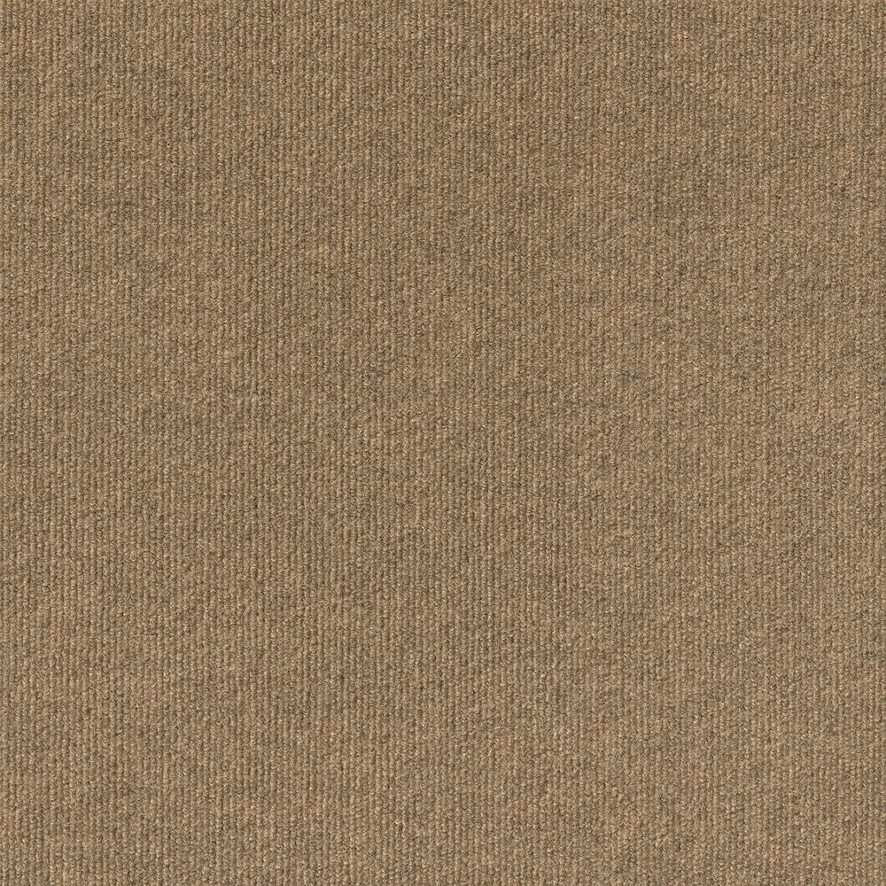 Foss Premium Self-Stick Chestnut Ribbed Texture 18 in. x 18 in. Carpet Tile (16 Tiles/Case)
