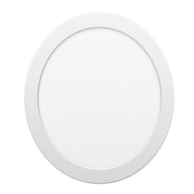 8 in. 18-Watt Warm White (3000K) Integrated LED Troffer Dimmable Surface Mounted Round Panel