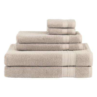 Solid 6-Piece Dune Towel Set