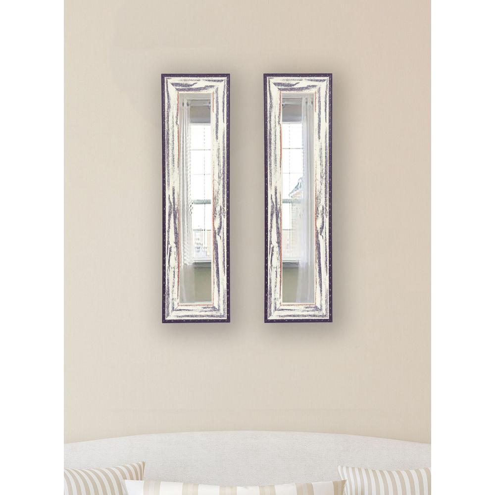 11.5 inch x 29.5 inch Rustic Seaside Vanity Mirror (Set of 2-Panels) by