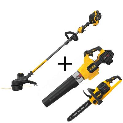 15 in. 60V MAX Cordless Brushless String Trimmer with Bonus Bare 16 in. Chainsaw & 125 MPH 600 CFM Blower Included