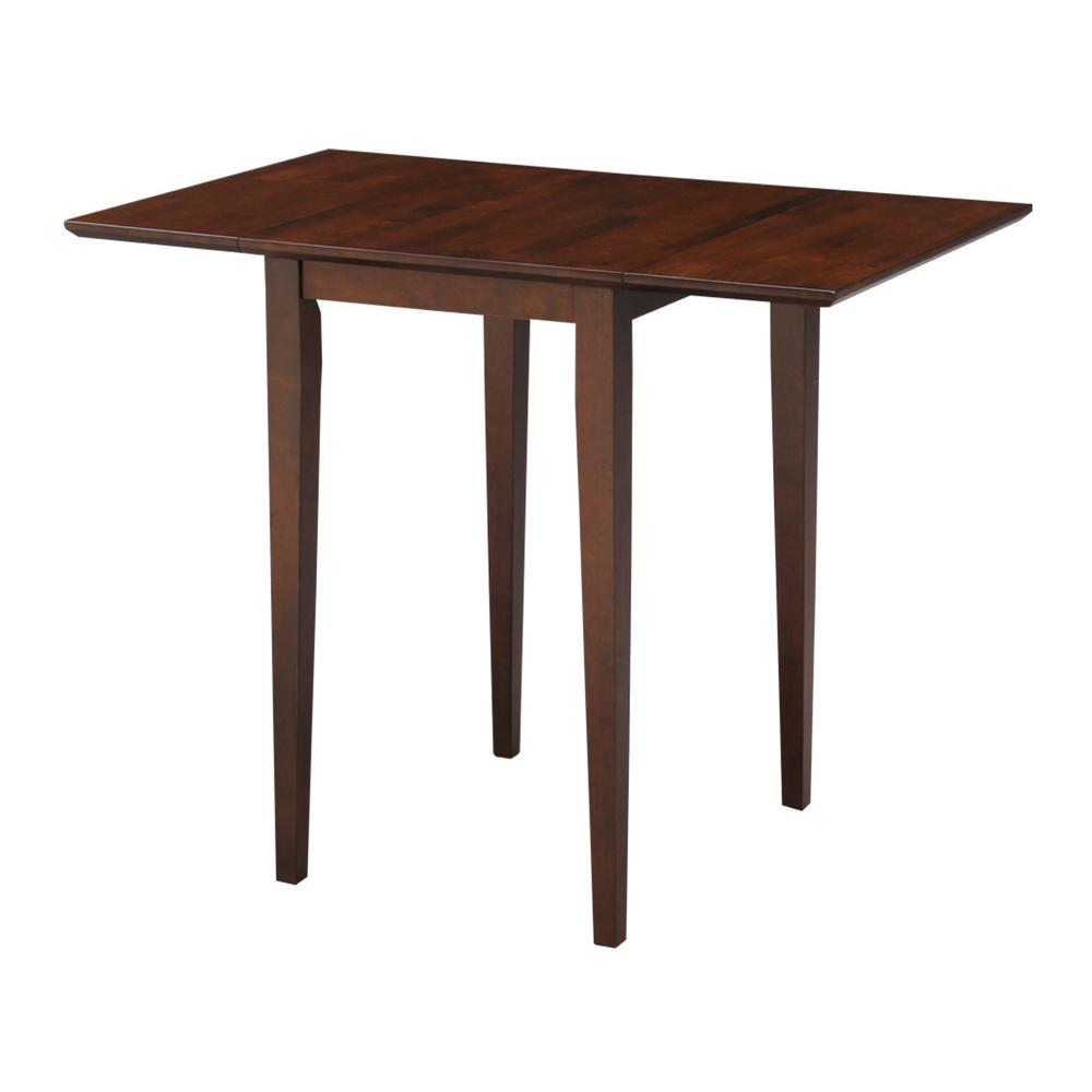 Espresso Drop Leaf Extendable Dining Table