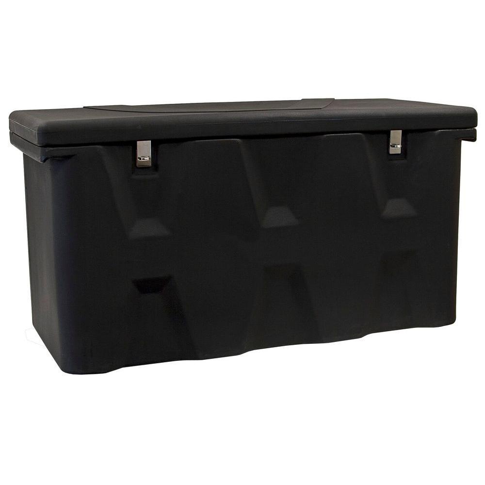 26 in. x 23 in. x 51 in. Matte Black Plastic All-Purpose Truck Tool Box Chest