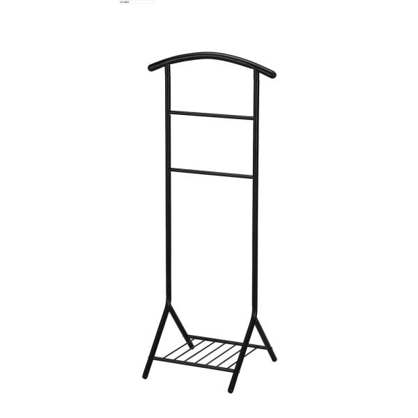 Black Metal Clothes Rack (18 in. W x 45 in. H)