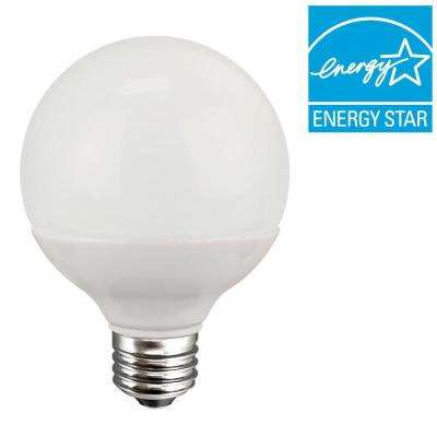 60W Equivalent Soft White (2700K) G25 Dimmable LED Light Bulb
