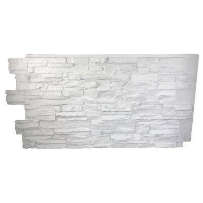 Faux Grand Heritage 24 in. x 48 in. x 1-1/4 in. Stack Stone Panel Dove White