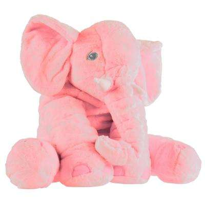 Pink Plush Stuffed Elephant