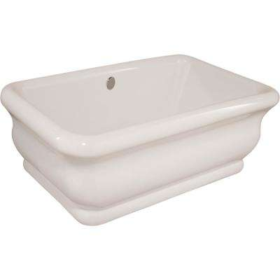 Michelangelo 5.8 ft. Acrylic Flat Bottom Freestanding Air Bath Bathtub in White