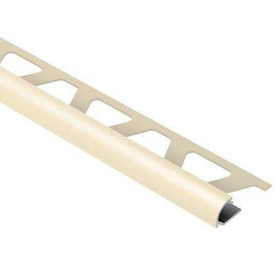 Rondec Sand Pebble Color-Coated Aluminum 1/2 in. x 8 ft. 2-1/2 in. Metal Bullnose Tile Edging Trim