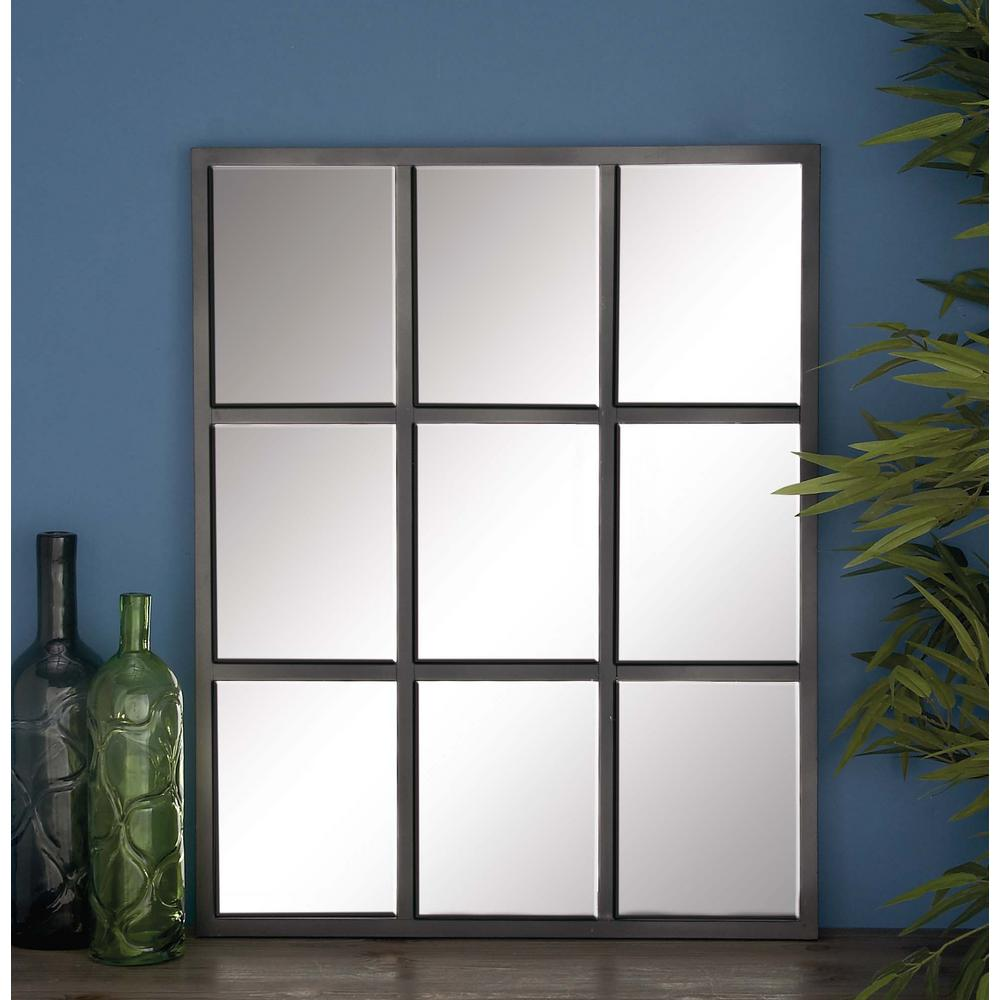 33 in x 26 in 9 panel gray framed wall mirror 53379 for 4 x 5 wall mirror