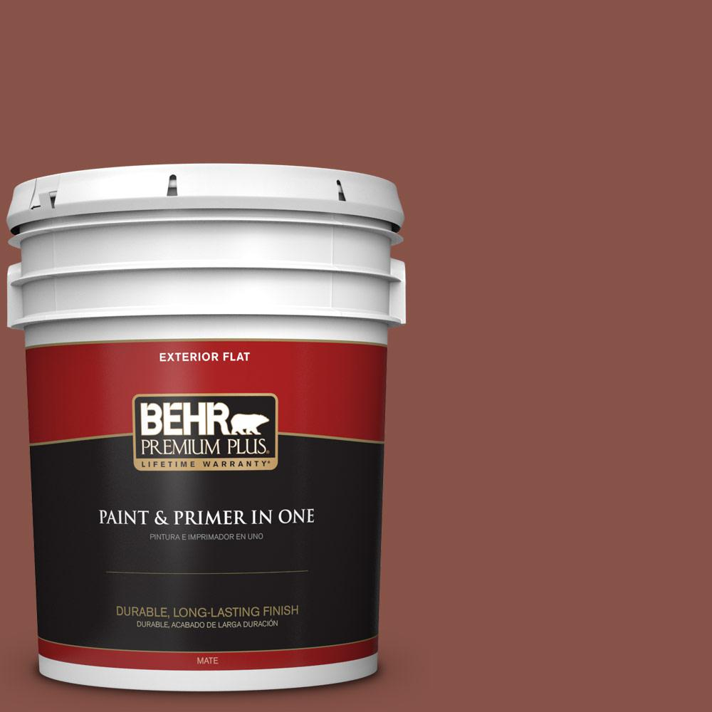 5 gal. #PPU2-18 Spice Flat Exterior Paint