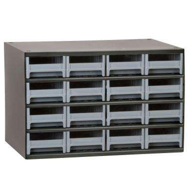 16-Compartment Steel Cabinet Small Parts Organizer