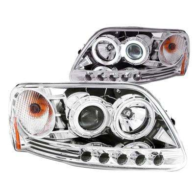 1997.5-2003 Ford F-150 Projector Headlights w/ Halo Chrome 1pc