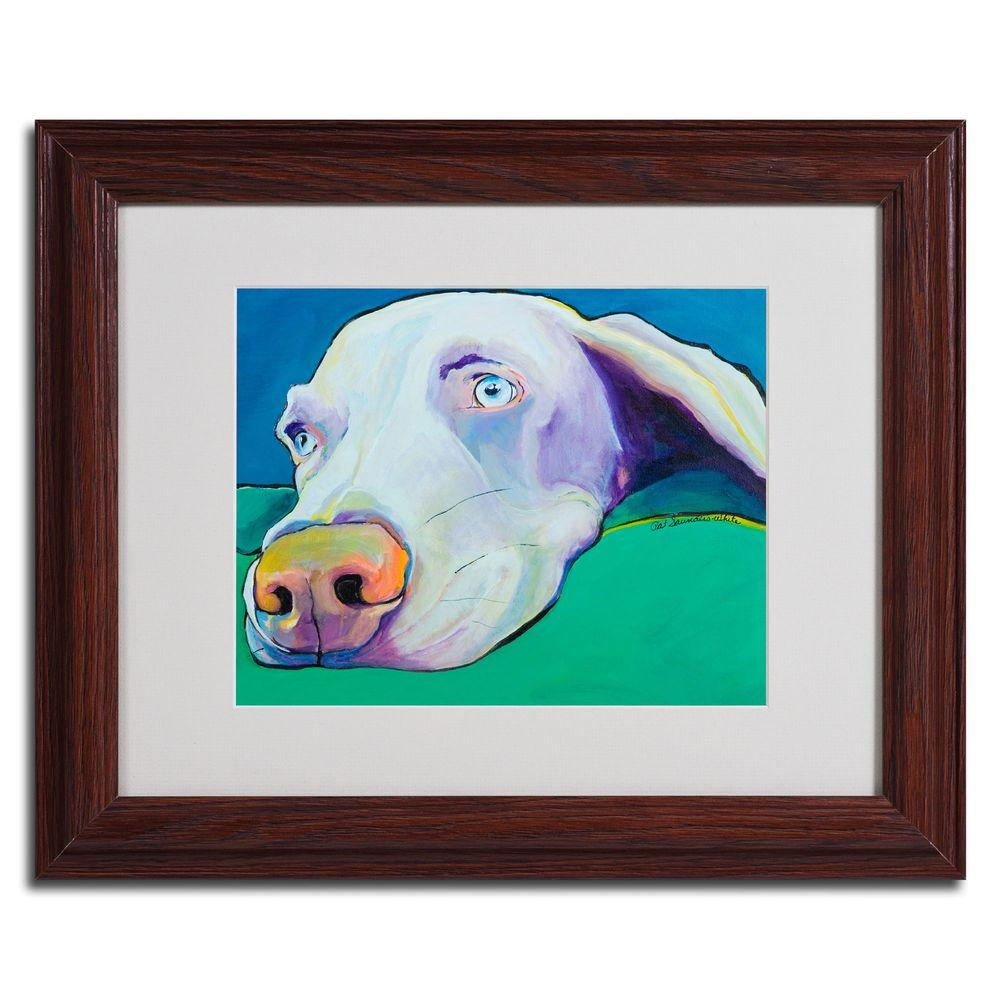 null 11 in. x 14 in. Fritz Dark Wooden Framed Matted Art