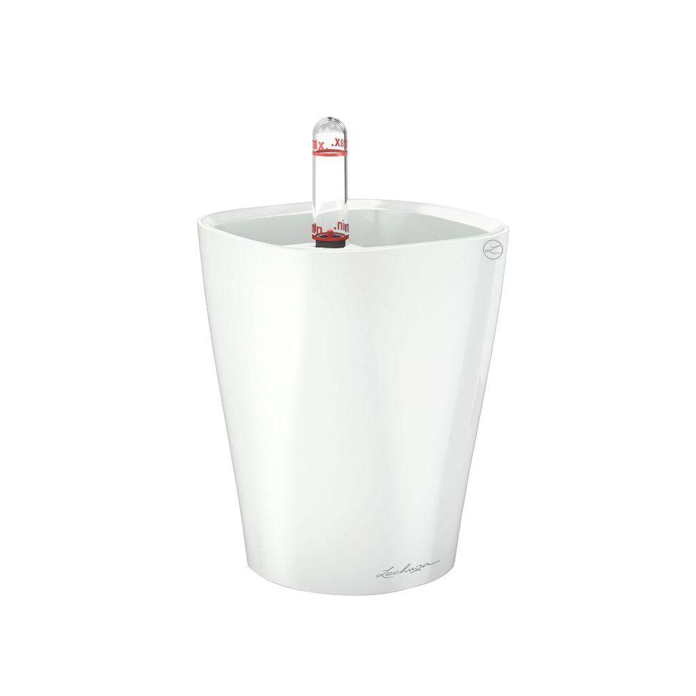 Lechuza Mini Deltini Premium 4 In Square White High Gloss Table Top