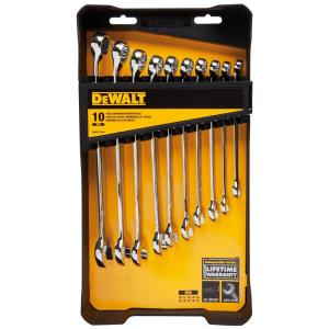 Click here to buy Dewalt Metric Combination Wrench Set (10-Piece) by DEWALT.