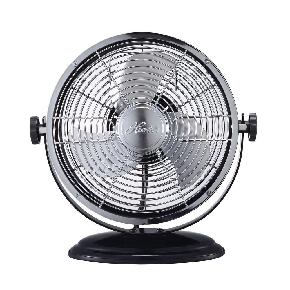 Hunter Retro 7 in. Personal Yoke Fan with All-Metal Construction