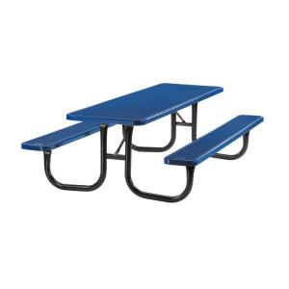 Portable 8 ft. Blue Diamond Commercial Rectangular Table