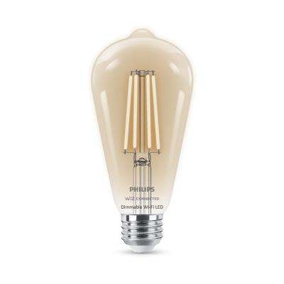 40-Watt Equivalent ST19 WiZ Connected Dimmable Wi-Fi Enabled Smart LED Light Bulb Soft White