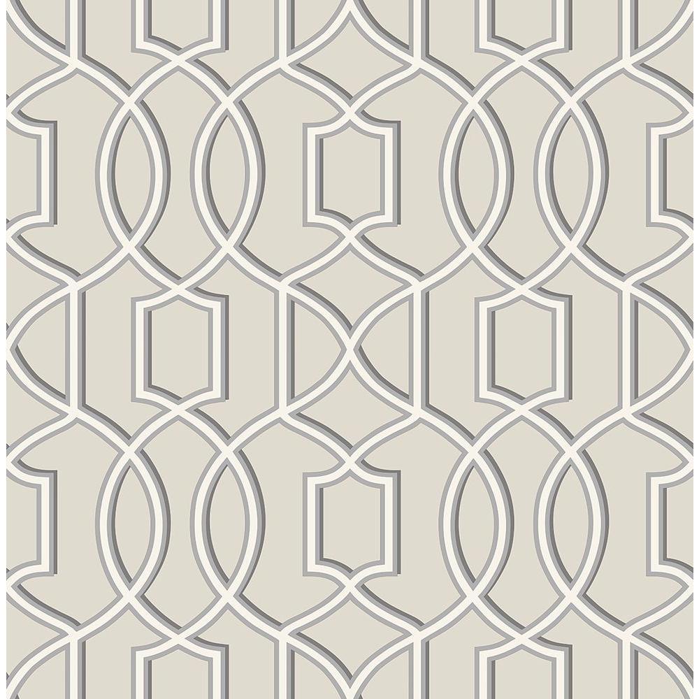 Quantum Grey Trellis Wallpaper