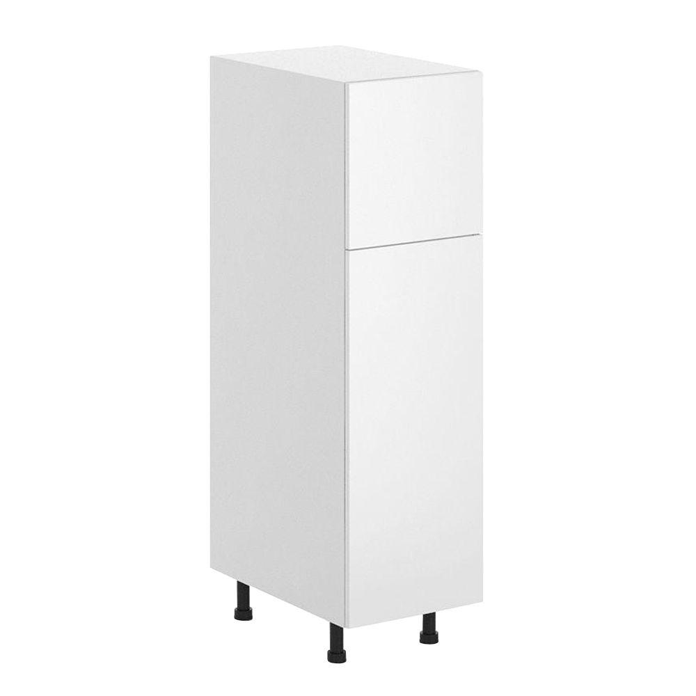 Fabritec Alexandria Ready To Assemble 15 X 49 X 24 5 In Pantry Utility Cabinet In White