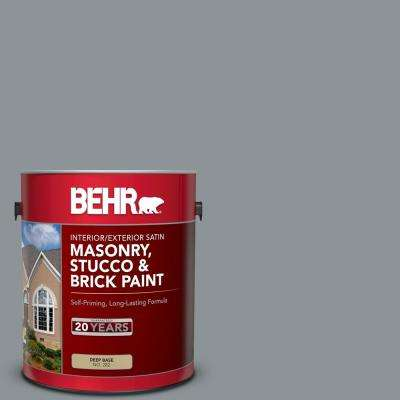 Behr 1 Gal N450 4 Moonquake Satin Interior Exterior Masonry Stucco And Brick Paint 28201 The Home Depot