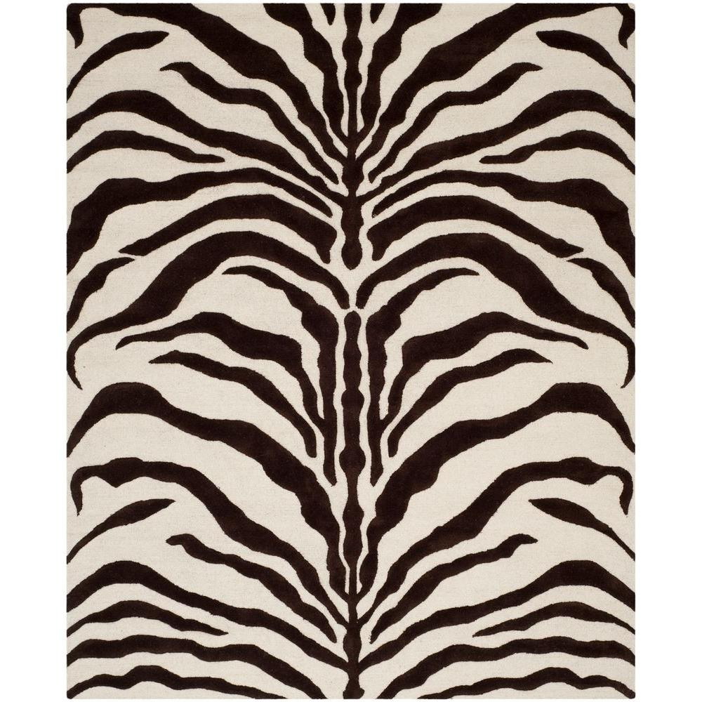 Cambridge Ivory/Brown 8 ft. x 10 ft. Area Rug