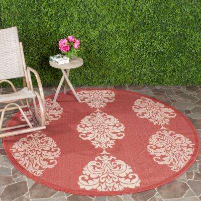 Red - 5\' Round - Best Rated - Floral - Outdoor Rugs - Rugs - The ...