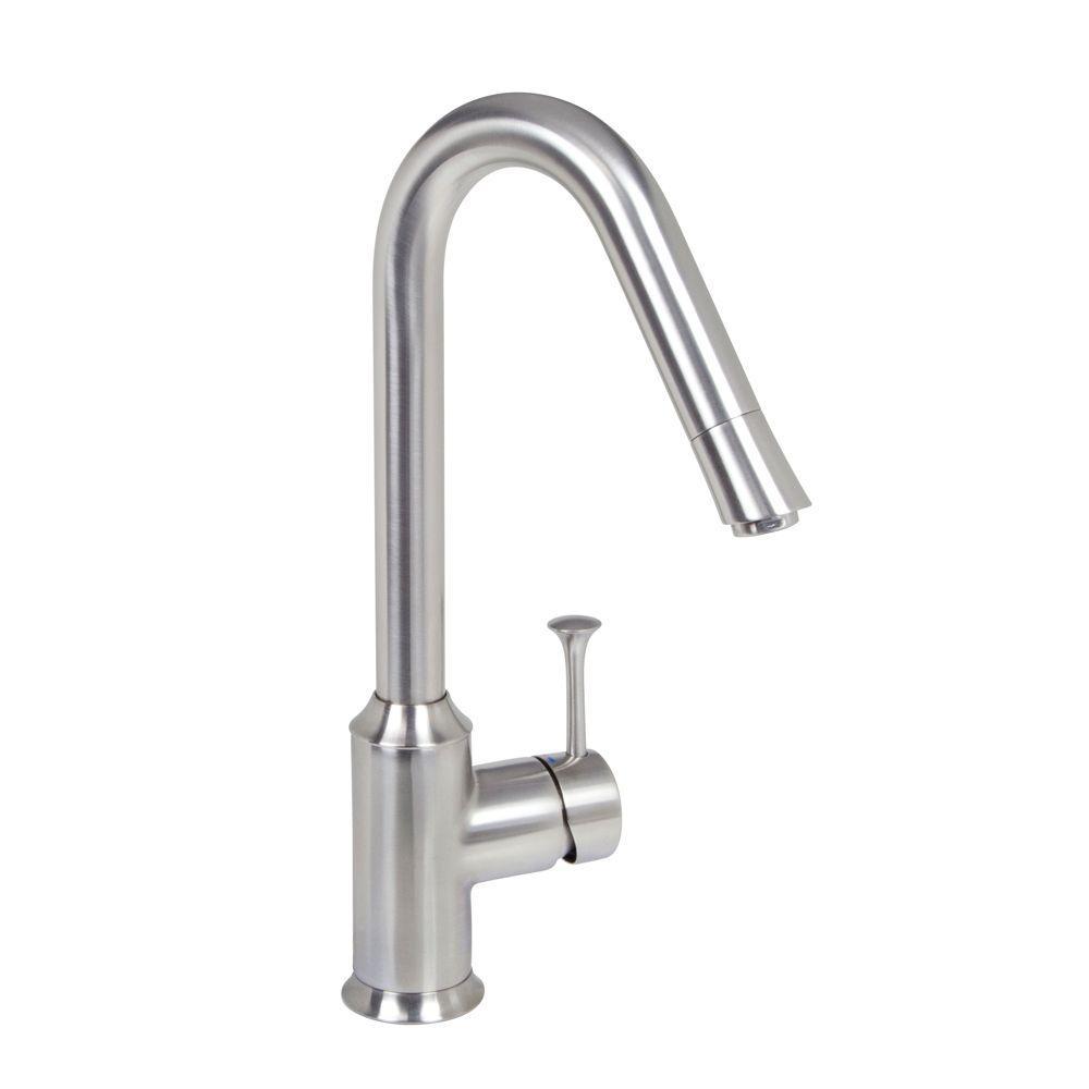 American Standard Pekoe Single-Handle Standard Kitchen Faucet in Stainless Steel