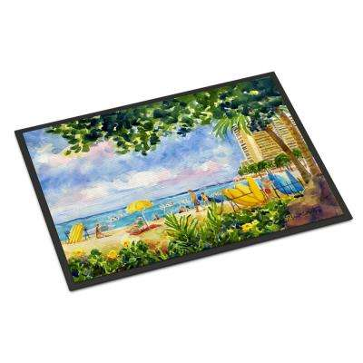 18 in. x 27 in. Indoor/Outdoor Beach Resort View from The Condo Door Mat