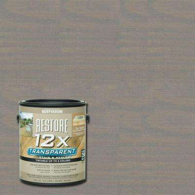 1 gal. 12X Transparent Weathered Gray Stain and Sealant
