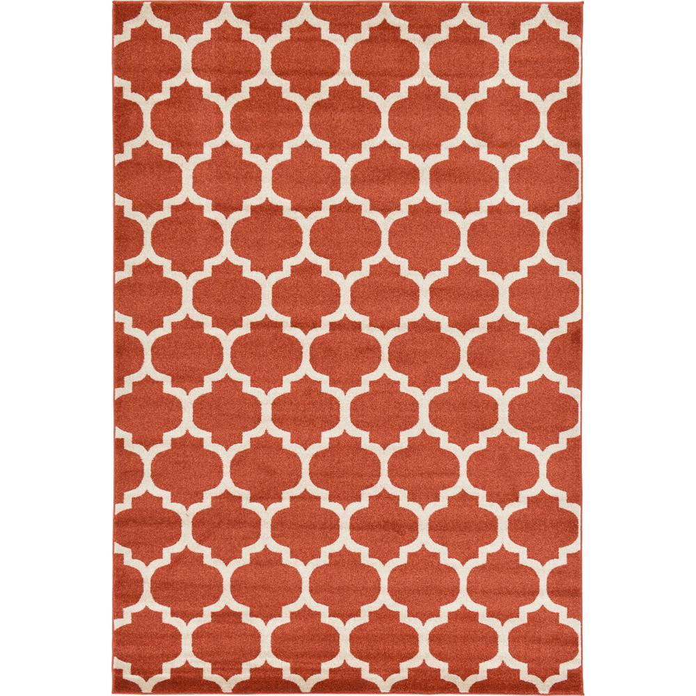 orange area rug. Trellis Light Terracotta 6\u0027 X 9\u0027 Rug Orange Area M
