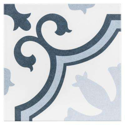 Lacour Arctic Encaustic 9-3/4 in. x 9-3/4 in. Porcelain Floor and Wall Tile (10.76 sq. ft. / case)