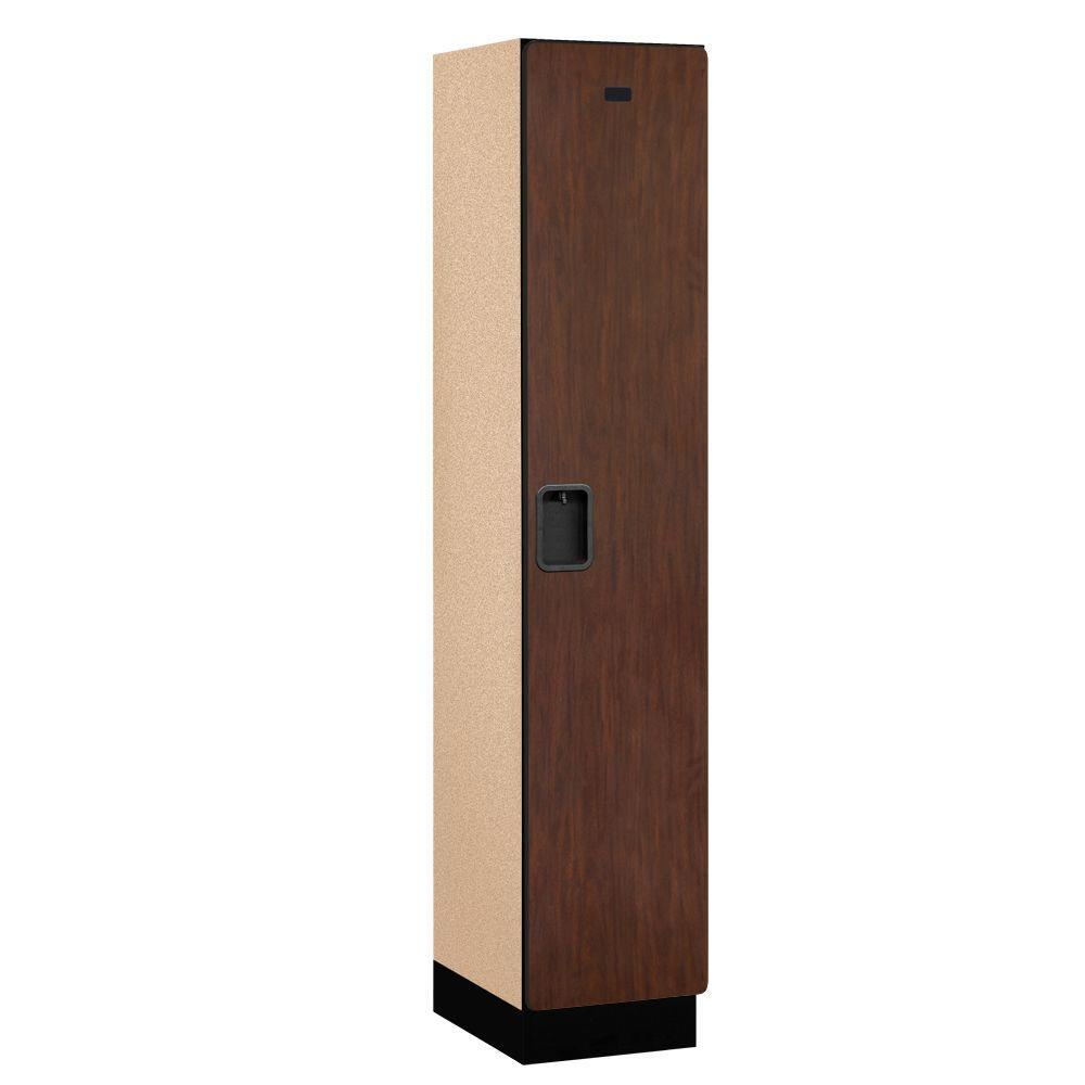21000 Series 1-Tier Wood Extra Wide Designer Locker in Mahogany -